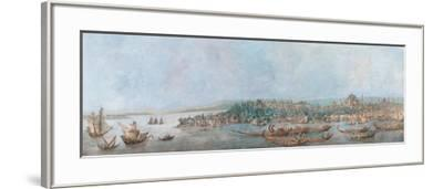 Panorama of Sarayburnu-Louis-Francois Cassas-Framed Giclee Print