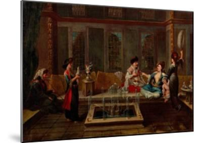 The Conversation-Jean-Baptiste Vanmour-Mounted Giclee Print