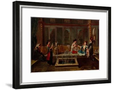 The Conversation-Jean-Baptiste Vanmour-Framed Giclee Print