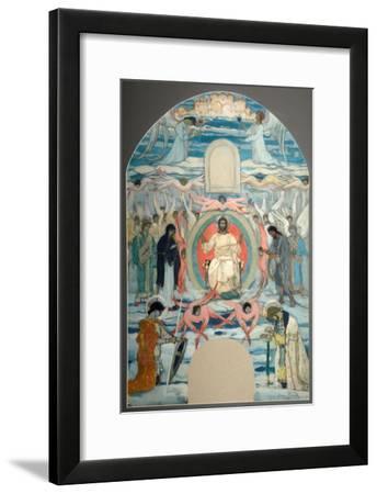 The Saviour Enthroned-Mikhail Vasilyevich Nesterov-Framed Giclee Print