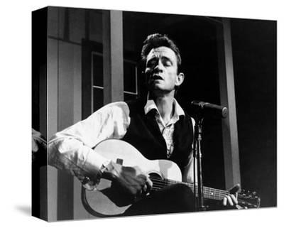 Johnny Cash--Stretched Canvas Print