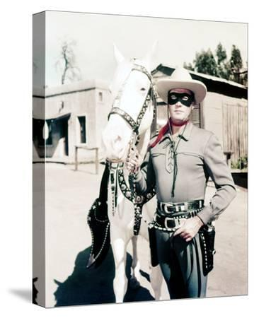 Clayton Moore, The Lone Ranger (1956)--Stretched Canvas Print
