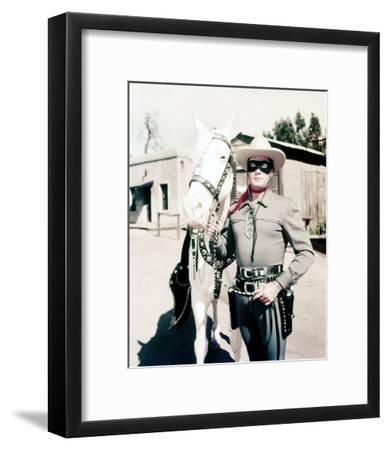 Clayton Moore, The Lone Ranger (1956)--Framed Photo