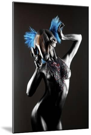 Masked Nude-Graeme Montgomery-Mounted Photographic Print