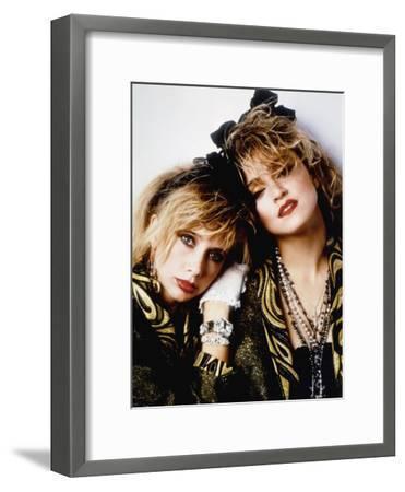 Desperately Seeking Susan, Rosanna Arquette, Madonna, Directed by Susan Seidelman 1985--Framed Photo