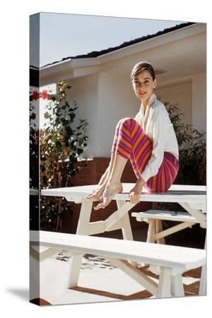 Audrey Hepburn 1954--Stretched Canvas Print