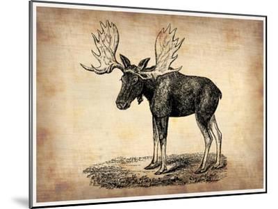 Vintage Moose-NaxArt-Mounted Premium Giclee Print