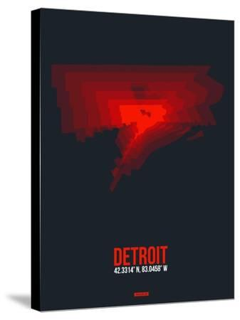 Detroit Radiant Map 3-NaxArt-Stretched Canvas Print