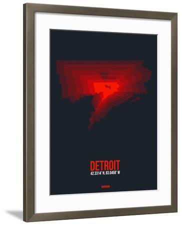 Detroit Radiant Map 3-NaxArt-Framed Art Print