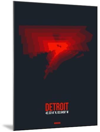 Detroit Radiant Map 3-NaxArt-Mounted Art Print