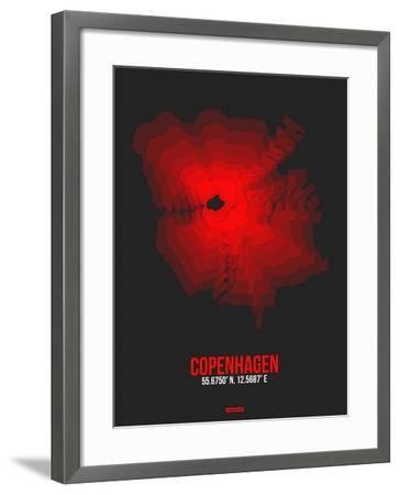 Copenhagen Radiant Map 3-NaxArt-Framed Art Print