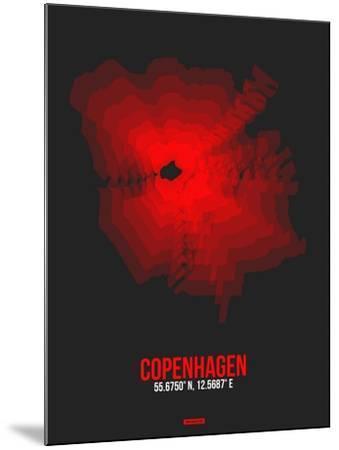 Copenhagen Radiant Map 3-NaxArt-Mounted Art Print
