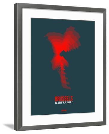 Brussels Radiant Map 2-NaxArt-Framed Art Print