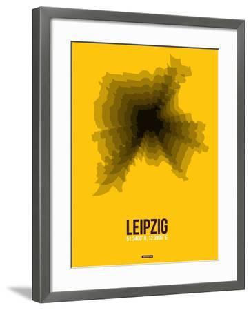 Leipzig Radiant Map 1-NaxArt-Framed Art Print