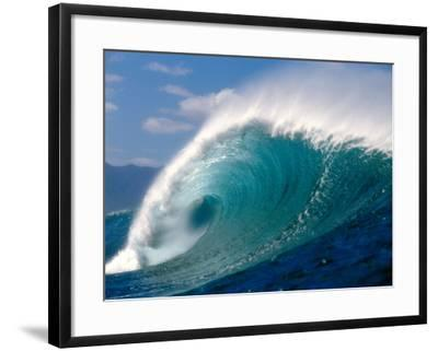 Waves Splashing in the Sea--Framed Photographic Print