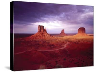 Storm Monument Valley UT \ AZ USA--Stretched Canvas Print