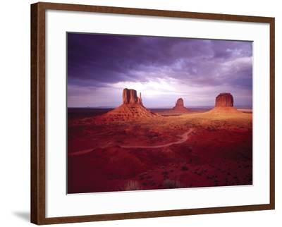 Storm Monument Valley UT \ AZ USA--Framed Photographic Print