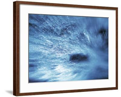 Abstract Water Splash--Framed Photographic Print