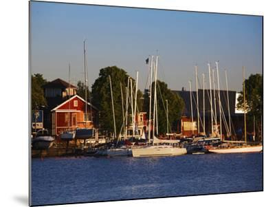 Boats at a Harbor, Parnu Yacht Club, Parnu, Estonia--Mounted Photographic Print