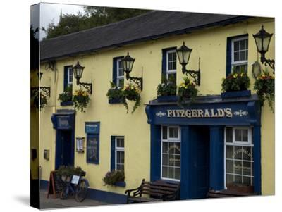 Fitzgerald's Bar in Avoca Village, A.K.A. Ballykissangel, County Wicklow, Ireland--Stretched Canvas Print