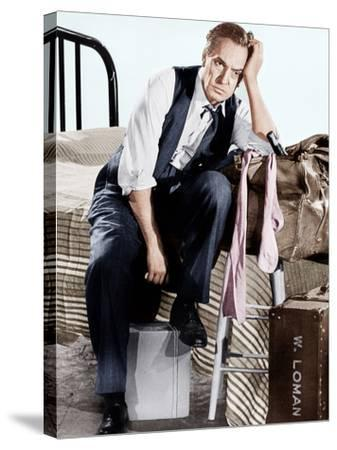 Death of a Salesman, Fredric March, 1951--Stretched Canvas Print