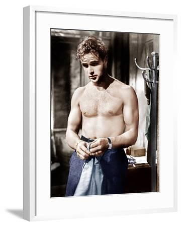 A Streetcar Named Desire, Marlon Brando, 1951--Framed Photo