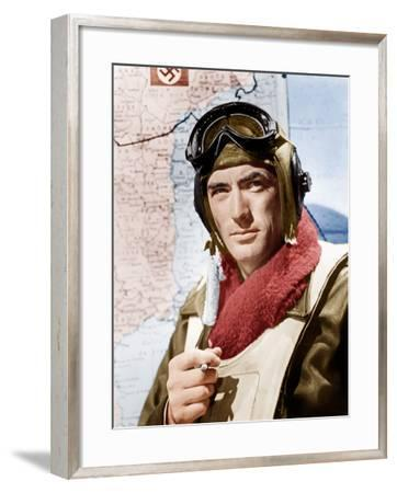 TWELVE O'CLOCK HIGH, Gregory Peck, 1949.--Framed Photo