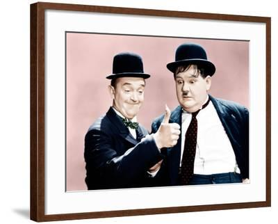 Way Out West, Stan Laurel, Oliver Hardy, 1937--Framed Photo