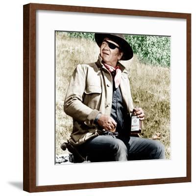 TRUE GRIT, John Wayne, 1969--Framed Photo