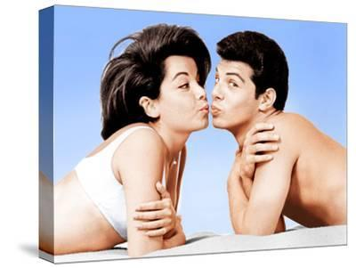 Beach Party, Annette Funicello, Frankie Avalon, 1963--Stretched Canvas Print