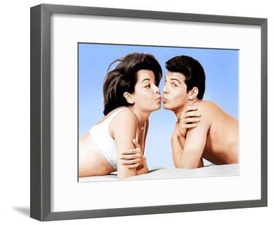 Beach Party, Annette Funicello, Frankie Avalon, 1963--Framed Photo