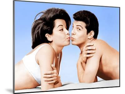 Beach Party, Annette Funicello, Frankie Avalon, 1963--Mounted Photo