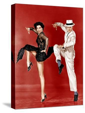 THE BAND WAGON, from left: Cyd Charisse, Fred Astaire, 1953--Stretched Canvas Print