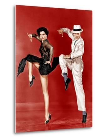 THE BAND WAGON, from left: Cyd Charisse, Fred Astaire, 1953--Metal Print