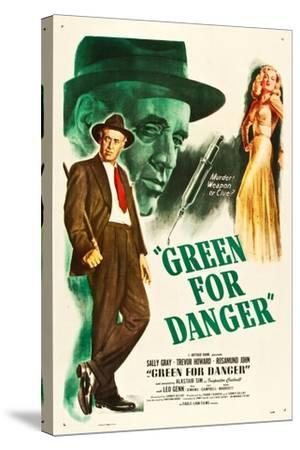 Green for Danger, Alastair Sim, Sally Gray on US poster art, 1946--Stretched Canvas Print