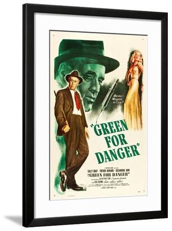 Green for Danger, Alastair Sim, Sally Gray on US poster art, 1946--Framed Art Print