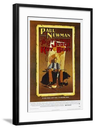 The Life and Times of Judge Roy Bean, US poster, Paul Newman, 1972--Framed Art Print