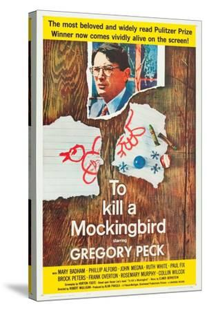 To Kill a Mockingbird, Gregory Peck, 1962--Stretched Canvas Print