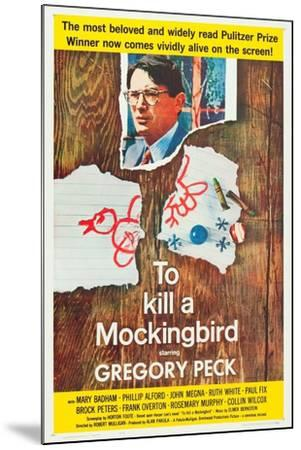 To Kill a Mockingbird, Gregory Peck, 1962--Mounted Art Print