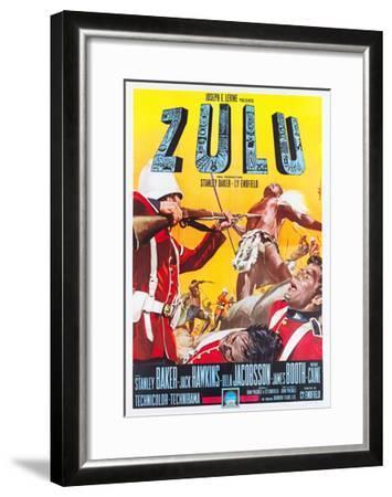 ZULU, Italian poster art, 1964.--Framed Art Print