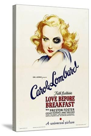 LOVE BEFORE BREAKFAST, Carole Lombard, 1936--Stretched Canvas Print