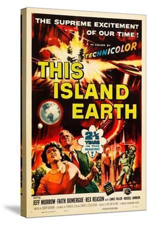 THIS ISLAND EARTH, Faith Domergue, Rex Reason, Jeff Morrow, 1955--Stretched Canvas Print