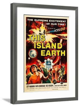 THIS ISLAND EARTH, Faith Domergue, Rex Reason, Jeff Morrow, 1955--Framed Art Print