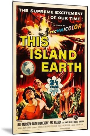 THIS ISLAND EARTH, Faith Domergue, Rex Reason, Jeff Morrow, 1955--Mounted Art Print
