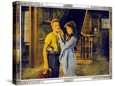 POLLYANNA, l-r: Howard Ralston, Mary Pickford on lobbycard, 1920.--Stretched Canvas Print