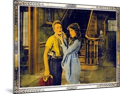 POLLYANNA, l-r: Howard Ralston, Mary Pickford on lobbycard, 1920.--Mounted Art Print