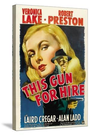 This Gun for Hire, Veronica Lake, Alan Ladd, 1942--Stretched Canvas Print