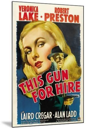 This Gun for Hire, Veronica Lake, Alan Ladd, 1942--Mounted Art Print