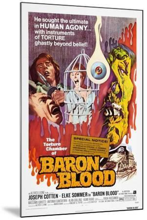 Baron Blood (aka Gli Orrori del Castello di Norimberga)--Mounted Art Print