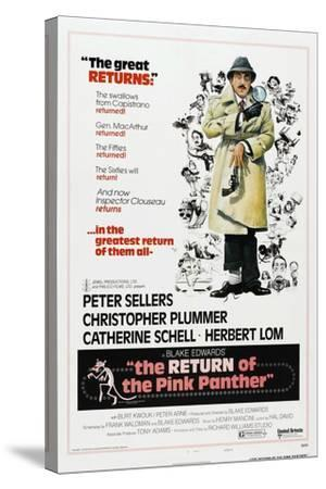 The Return of the Pink Panther, US poster, Peter Sellers, 1975--Stretched Canvas Print